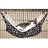 ProSelectA Wild Time Pet Cage Hammocks  -  Comfortable Hammocks for Cats and Small Dogs, Black