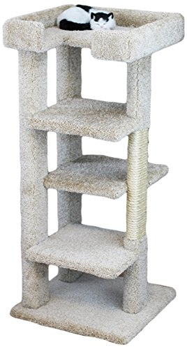 New Cat Condos 120008-Beige 4 Level Large Cat Tree