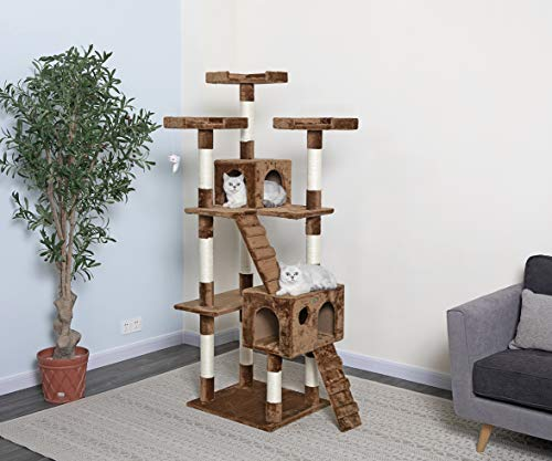 Go Pet Club Brown 72' Cat Tree F2081