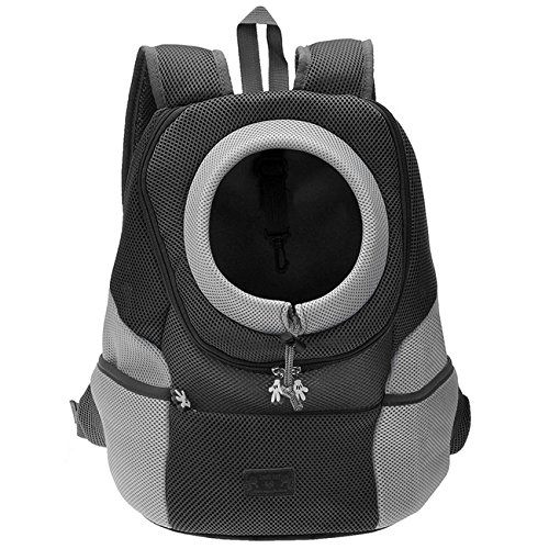 CozyCabin Latest Style Comfortable Dog Cat Pet Carrier Backpack Travel Carrier Bag Front for Small Dogs Puppy Carrier Bike Hiking Outdoor (M, Black)