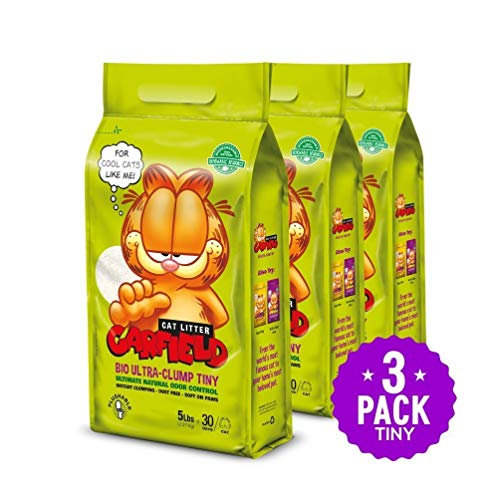 Garfield Cat Litter All Natural, Fast Clumping, Perfect for Multi-Cat Homes, Tiny Grains, 15 lb, Golden Swirls, 15 lb.