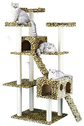 Go Pet Club Cat Tree Leopard Print
