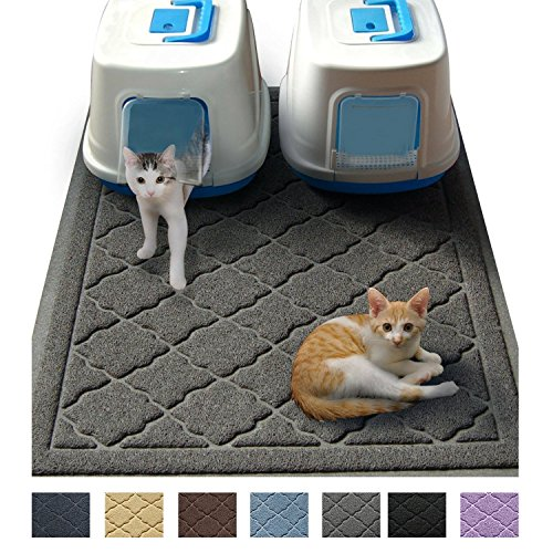Jumbo Litter Mat 47' x 36' Cat Litter Mat - Traps Messes, Easy Clean, Durable, Phthalate Free, Litter Box Mat with Scatter Control - Soft on Kitty Paws