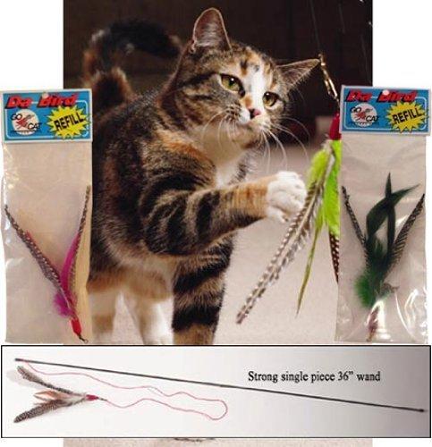 Da Bird Single 3 Foot Pole Cat Toy with 2 Extra Guinea Feather Refills